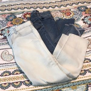 Bundle of girls jeans